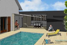 "Création d'un ""pool house"""