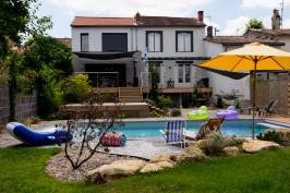 extension habitation avec piscine