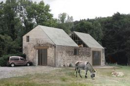 Surélévation d'une grange en habitation