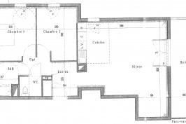 Proposition de réaménagement d'une pièce de vie d'un appartement