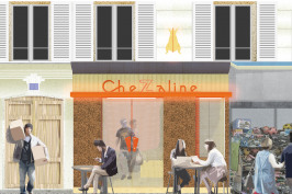 Terrasse de restaurant Chez Aline