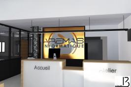 Création d'un espace de vente informatique