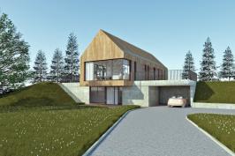 Construction d'une maison sur un terrain en pente