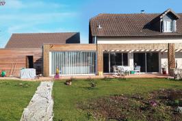 Rénovation et extension bois et verre