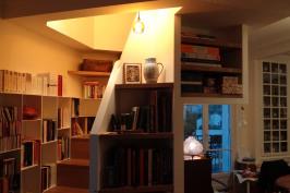 Un escalier bibliothèque Création d'un duplex