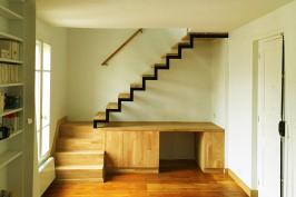 Création d'un escalier avec bureau intégré