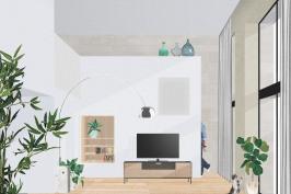Transformation d'un garage en maison individuelle