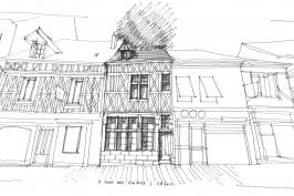 restauration et reutilisation d'une maison a pan de bois