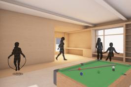 réhabilitation d'une maison de village en club'ados