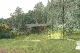 Maison taillée dans un bloc de schiste