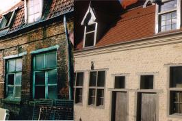 Restauration de trois maisons dans une ancienne cour du vieux-Lille