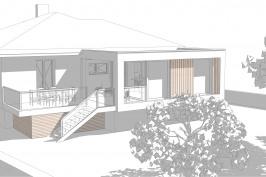 Extension lumineuse d'une maison et isolation par l'extérieur