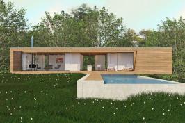 Construction d'une maison contemporaine avec piscine