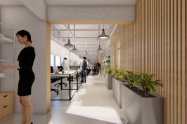 Réaménagement de bureaux d'une maison d'édition