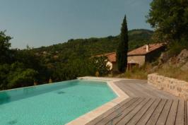 Piscine en basse Ardèche