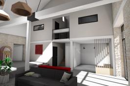 Transformation d'une grange en extension d'habitation