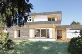 Construction d'une maison en bord de mer