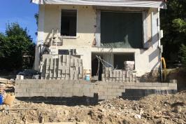 Chantier : extension et rénovation d'une maison de ville