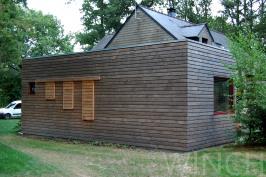 Extension en bois et paille