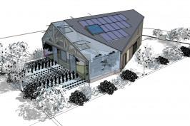 Maison en paille bioclimatique