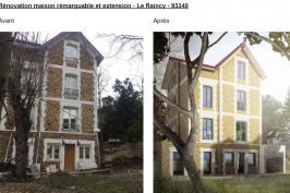 Extension et réhabilitation d'une maison remarquable