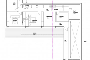 R95 - construction villa sur terrain en pente St Leu la forêt