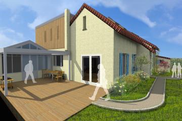Restructuration et surélévation d'une maison individuelle