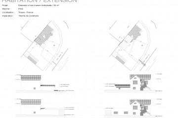 Extension d'une maison individuelle avec rénovation d'une annexe existante