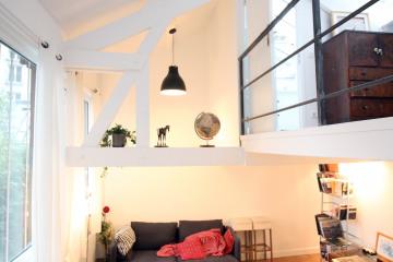 Rénovation d'un loft avec surélévation d'une mezzanine