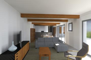 Rénovation et extension d'une maison en fond de parcelle