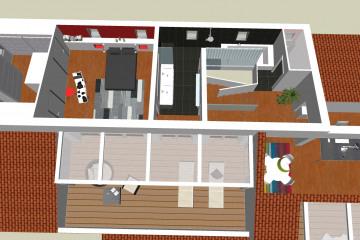 Restructuration et surélévation d'une villa