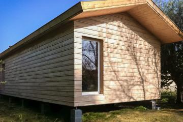 Extension en ossature bois d'une Maison