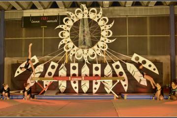 Scénographie gala gym 2017