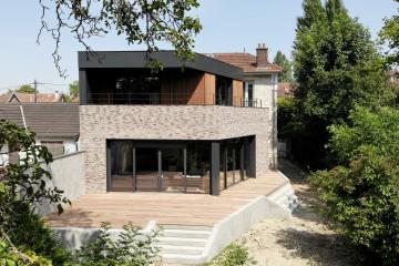 Rénovation Meulière + extension bois