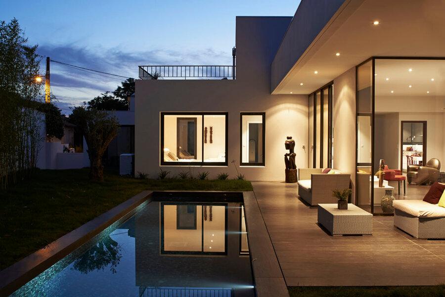 Villas Siamoises, construction de 2 villas avec couloir de nage