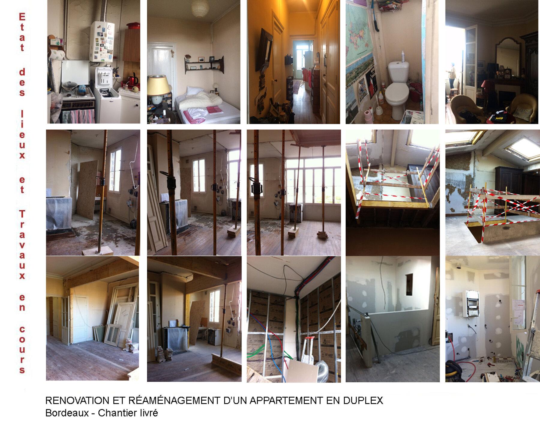 Rénovation d'un appartement et réaménagement en duplex