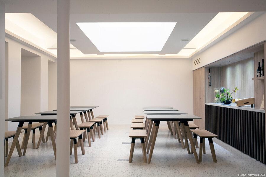 """Projet Espace de réception """"Soif d'Ailleurs réalisé par un architecte Archidvisor"""
