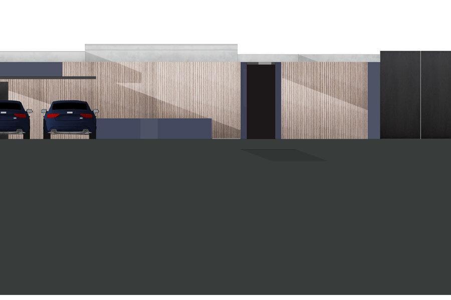 R95 - construction villa bioclimatique sur terrain en pente St Leu la forêt