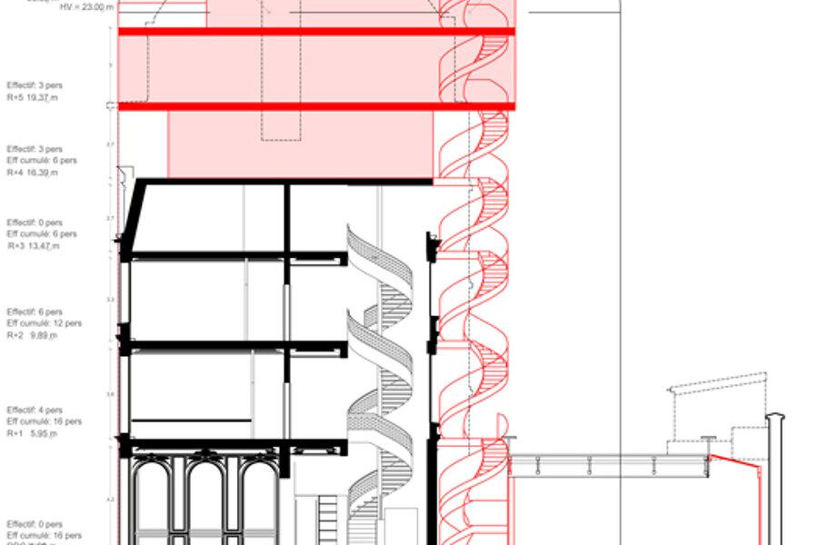 Projet Surélévation d'un hôtel particulier réalisé par un architecte Archidvisor