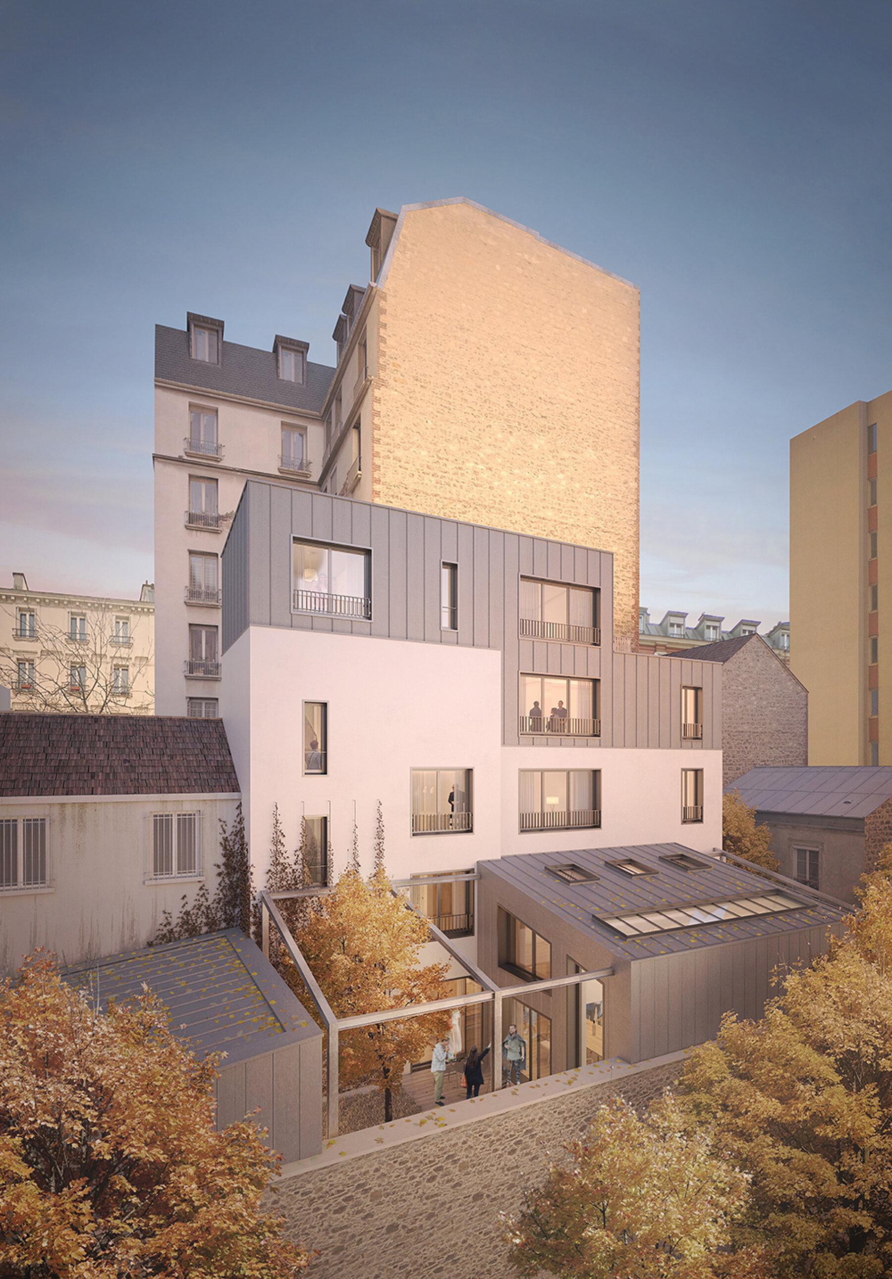 Logements collectifs avenue de Saint-Mandé