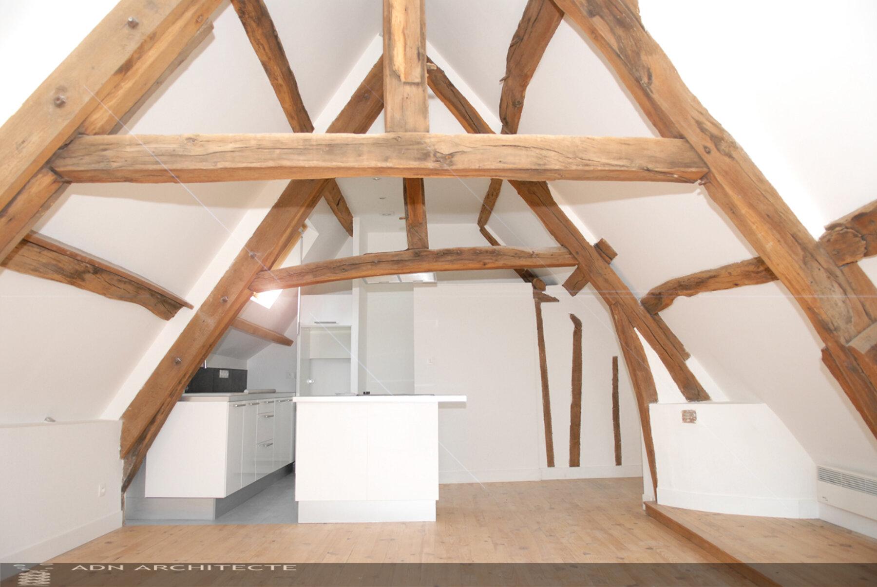 Rénovation maison de ville + combles, Senlis