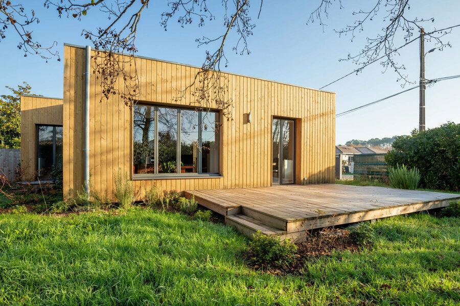 Villa le Teich, construction neuve à ossature bois.