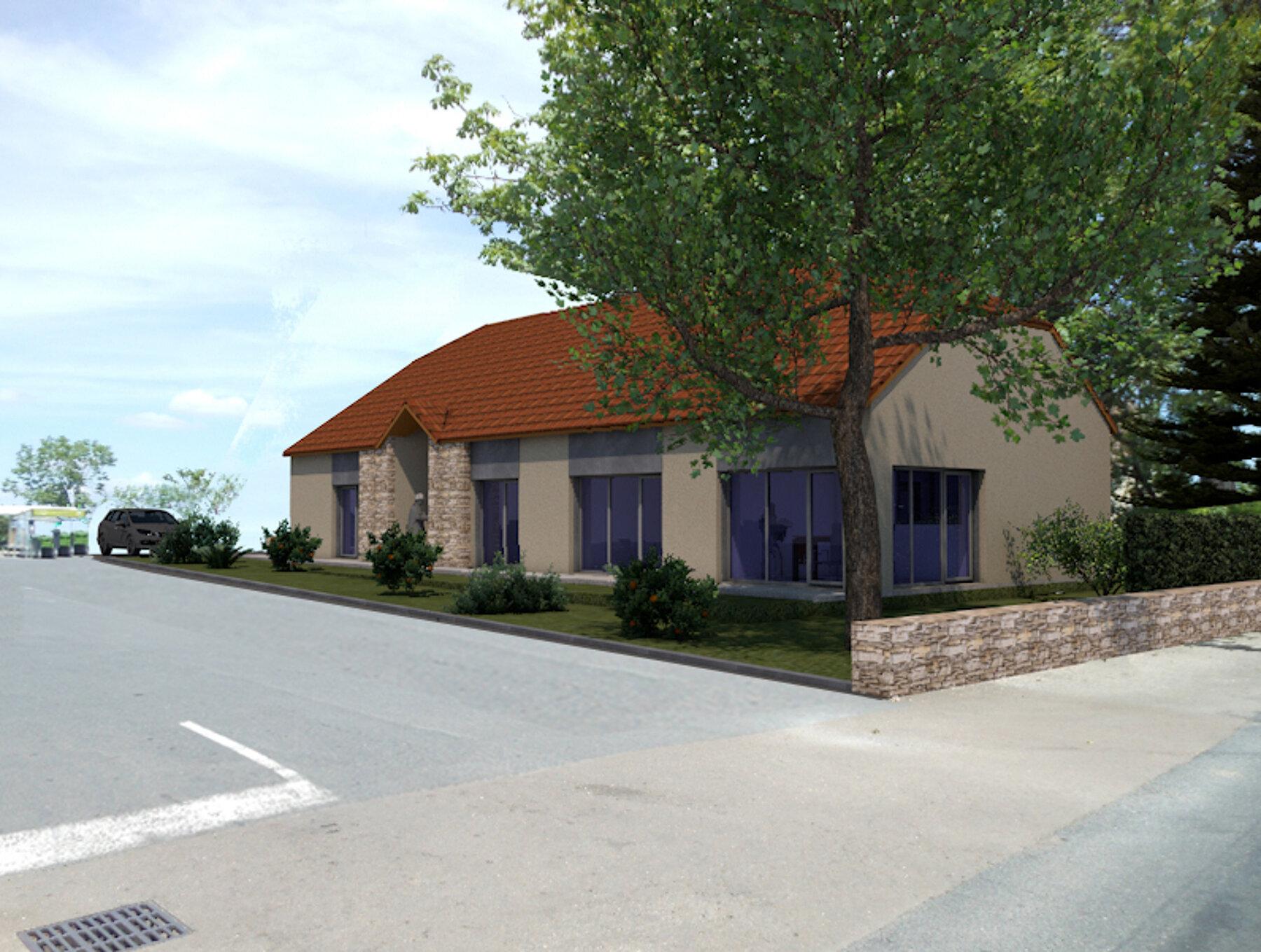 Création d'un bâtiment à usages de locaux professionnels