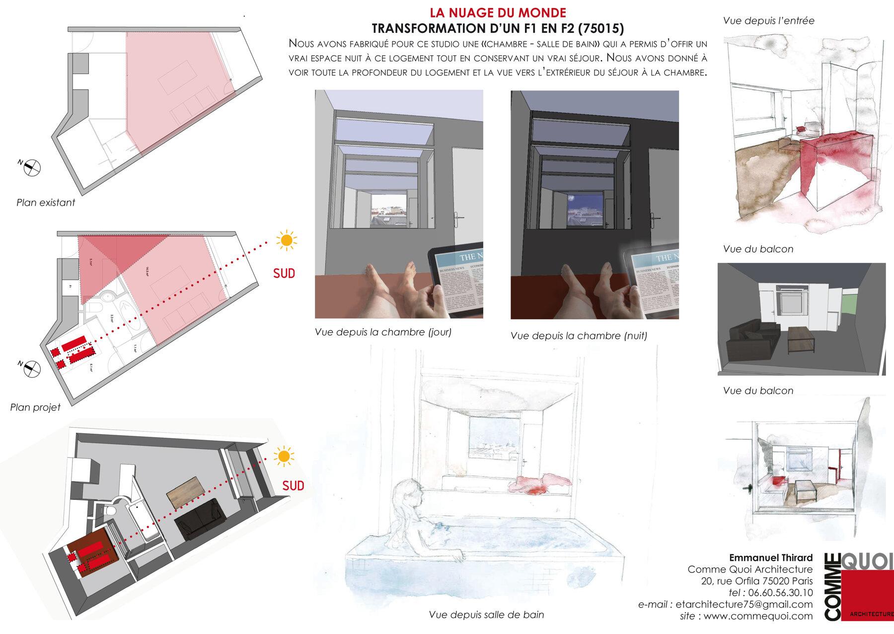 Réhabilitation d'un Studio à Paris 15