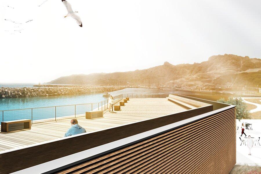 L'Estaca : base nautique et promenade publique