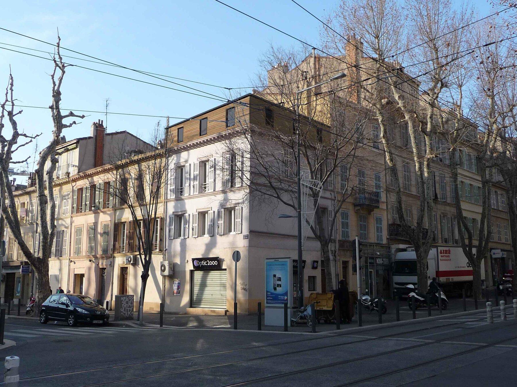 Surélévation d'un immeuble en centre ville