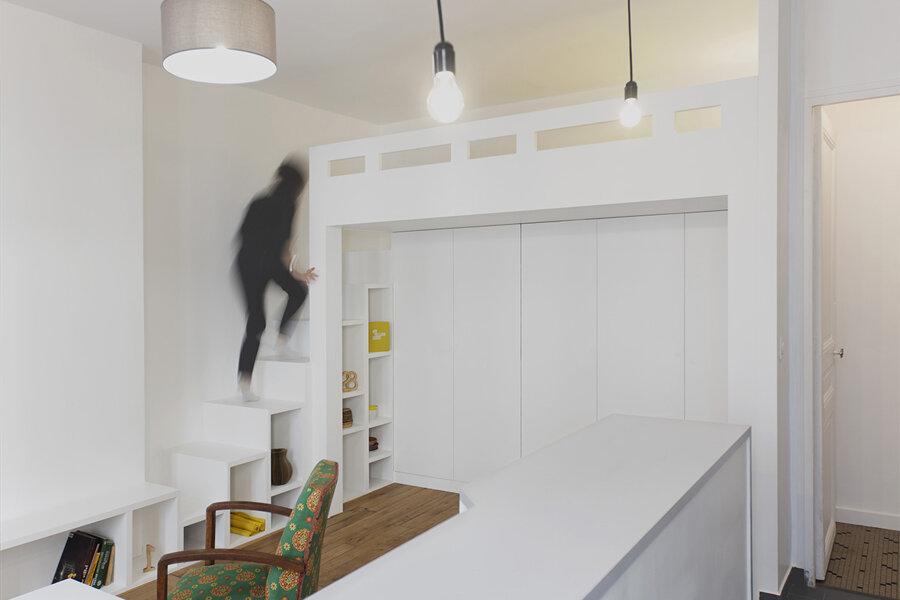 Restructuration d'un studio – Paris (75018)