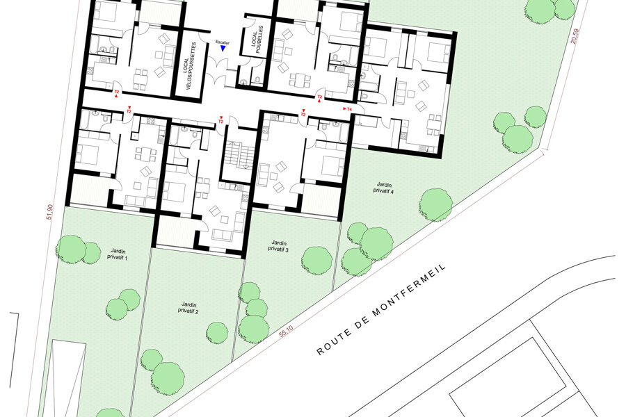 Logements collectifs COURTRY