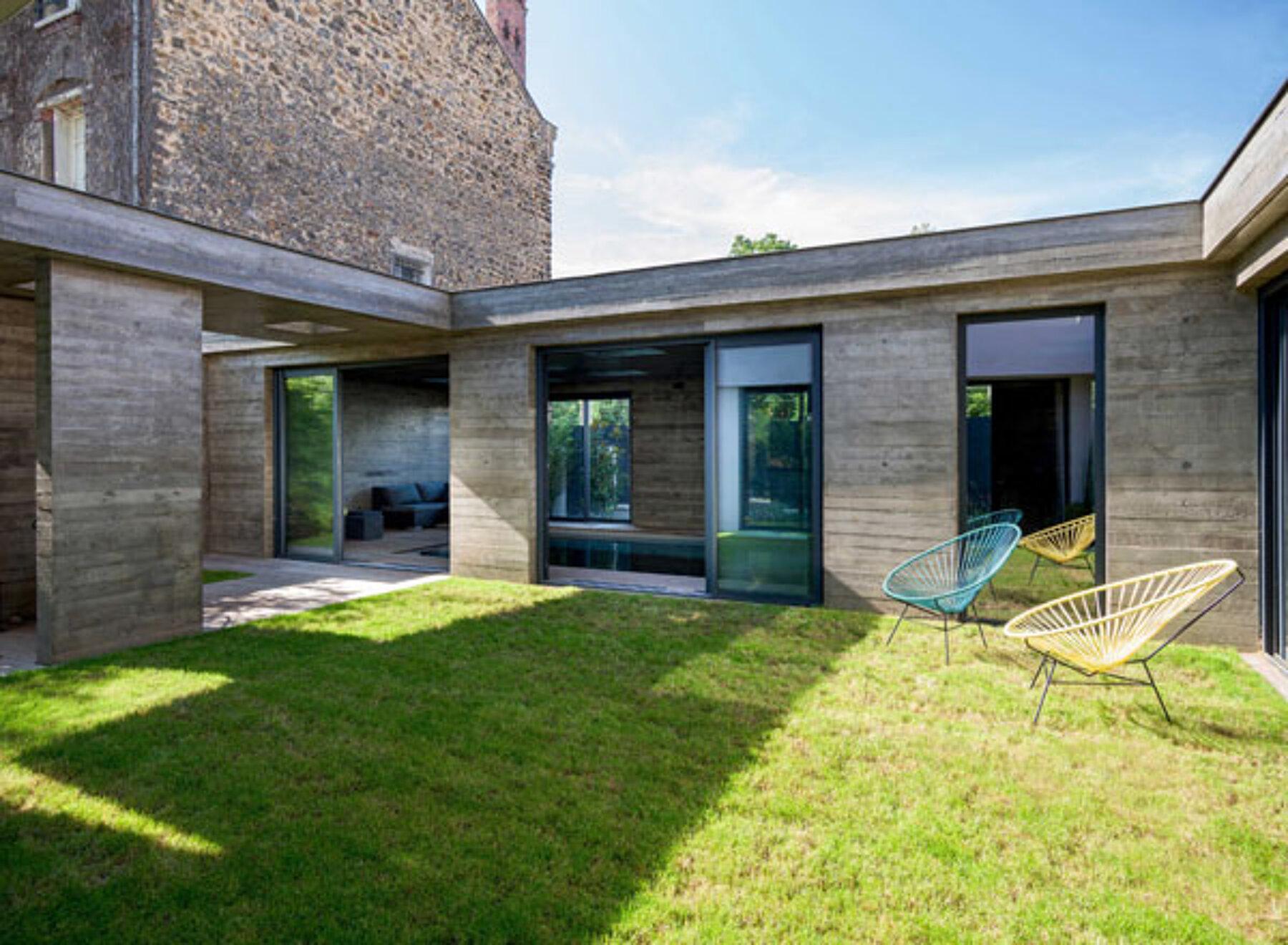 Extension Maison Piscine Couverte ᐅ construction neuve à asnières-sur-seine ≡ piscine