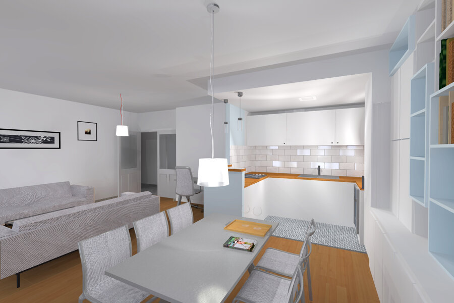 Rénovation complète d'un appartement à Villeurbanne